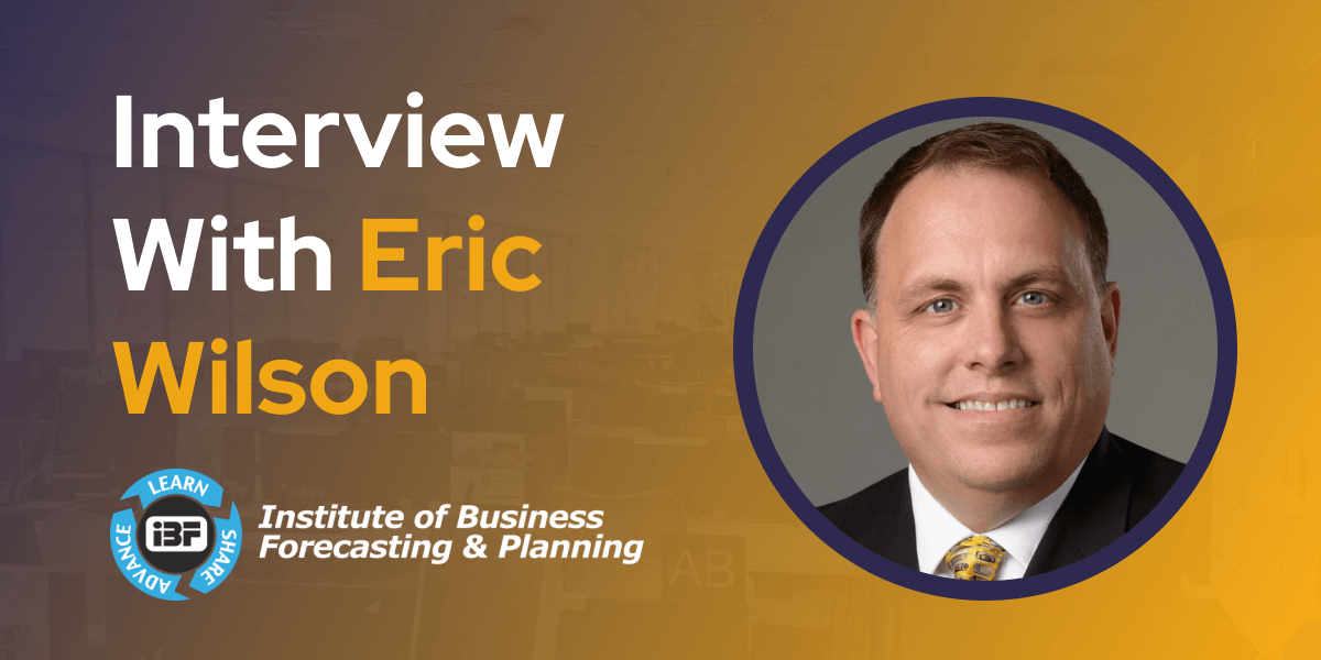 CXBuzz Interview With Eric Wilson Director Thought Leadership Institute of Business Forecasting