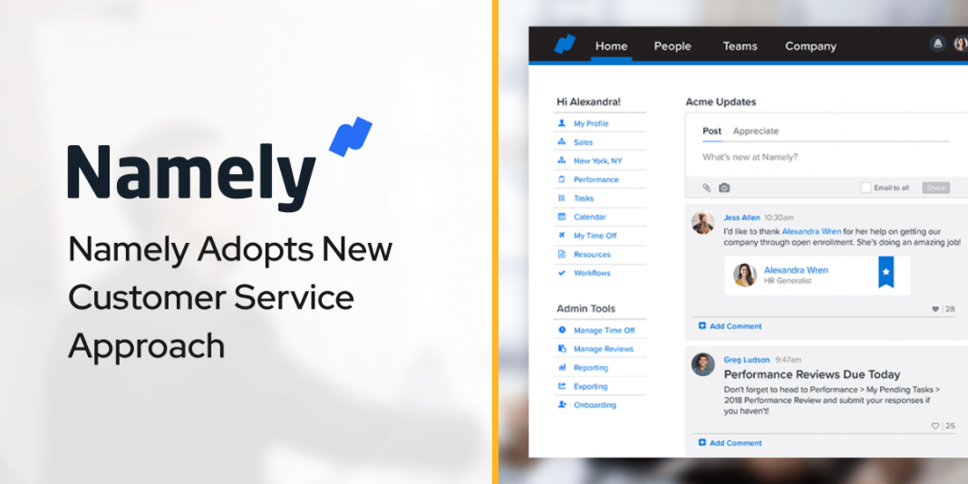 Namely Adopts New Customer Service Approach