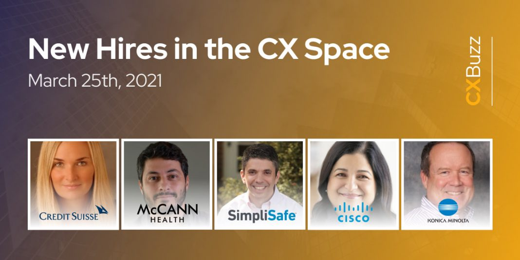 New Hires in the CX Space: March 25th, 2021