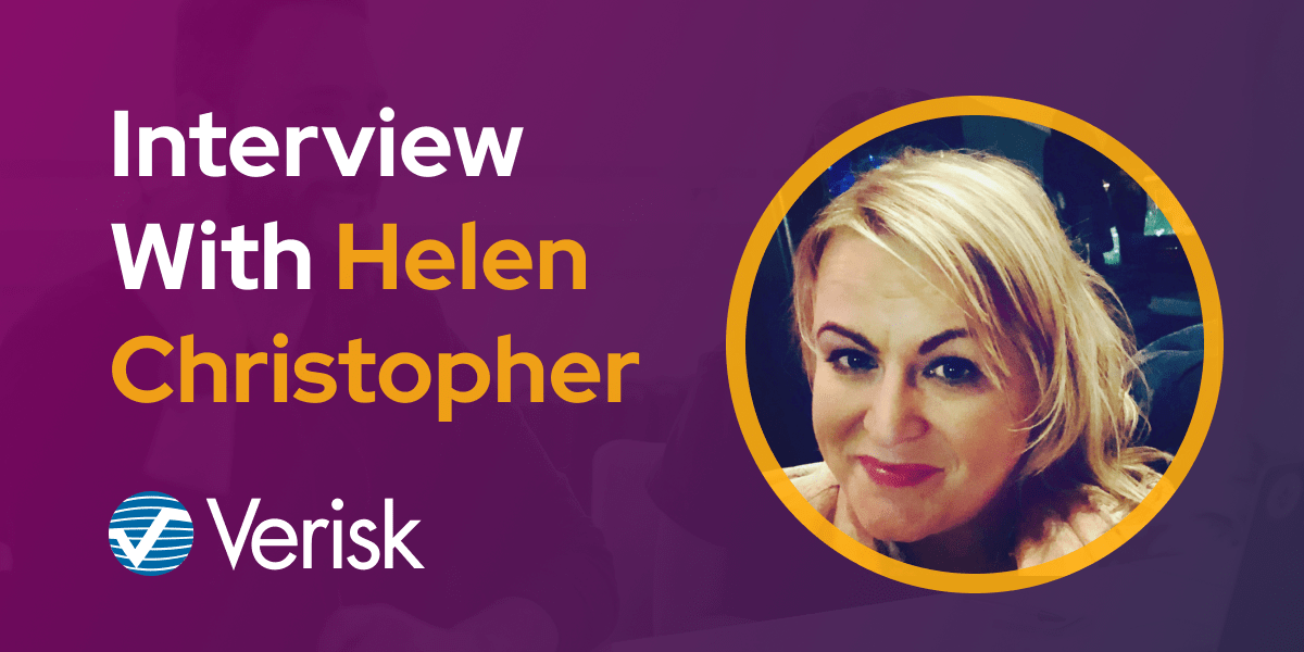 CXBuzz Interview With Helen Christopher, Global Marketing Director at Verisk