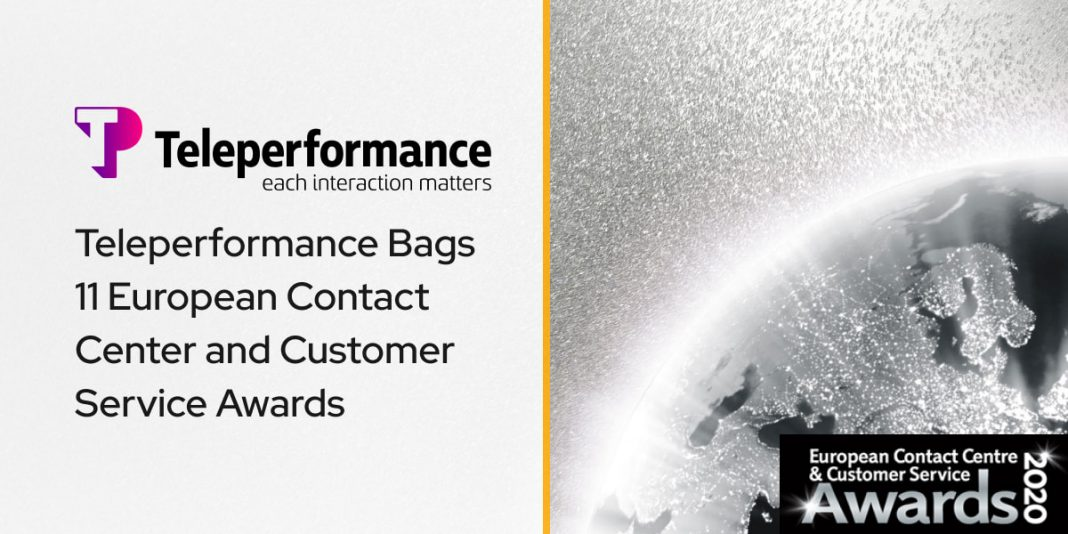 Teleperformance Bags 11 European Contact Center and Customer Service Awards