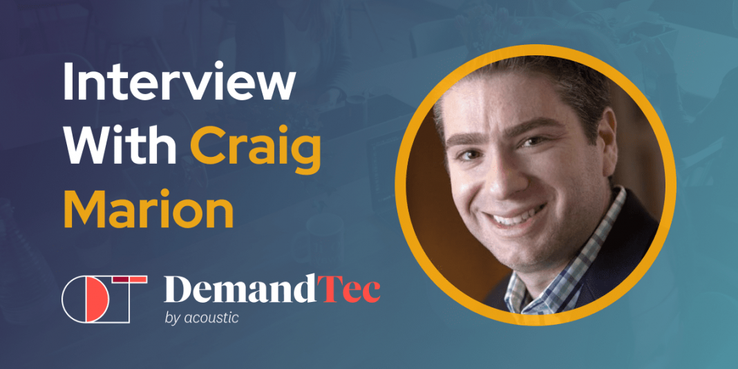 CXBuzz Interview With Craig Marion, Global Product Leader at DemandTec